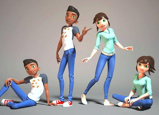 Free 3D models - Henry and Caroline