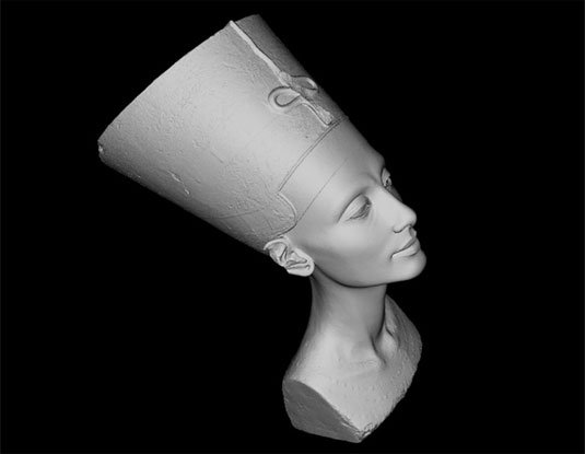 Free 3D models - Nefertiti