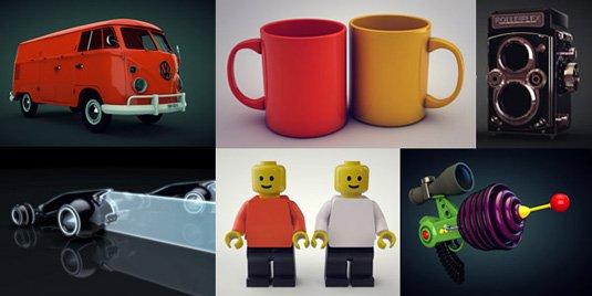 Free 3D models - various C4D