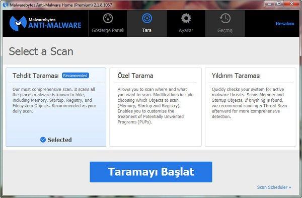 Malwarebytes Anti-Malware Premium 2.1.8