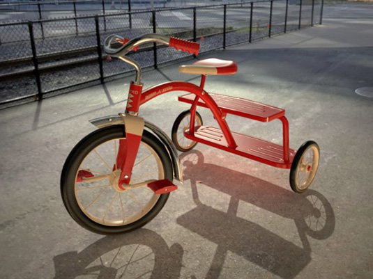 Free 3D models - tricycle