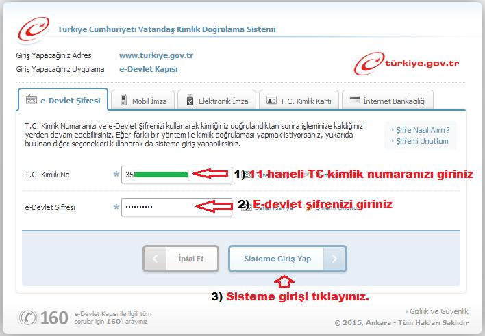 e-devlet sitesi giriş