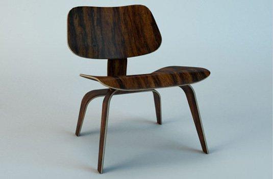 Free 3D models - Eames chair