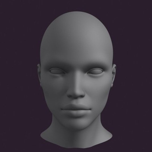 Free 3D models - Ladyhead