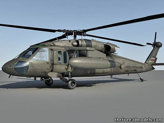Free 3D models - helicopter