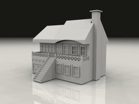 Free 3D models - House
