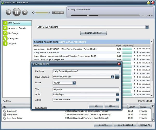MP3 Free Downloader :: Search and Download