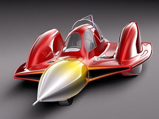 Free 3D models - Turbo sonic car