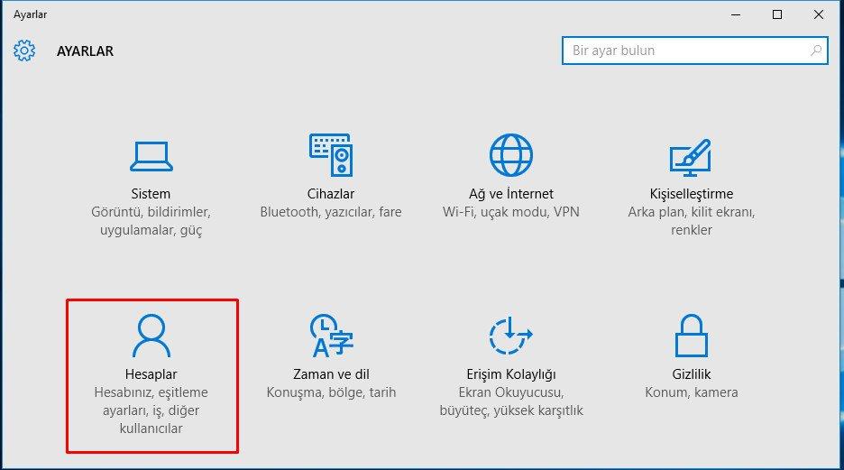 Windows 10 PIN Kaldırma (2)