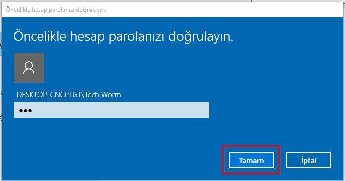 Windows 10 PIN Kaldırma (4)