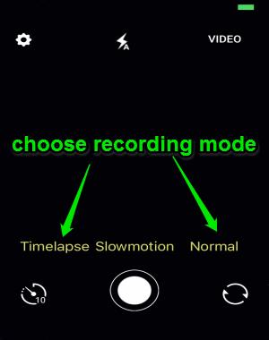 choose recording mode