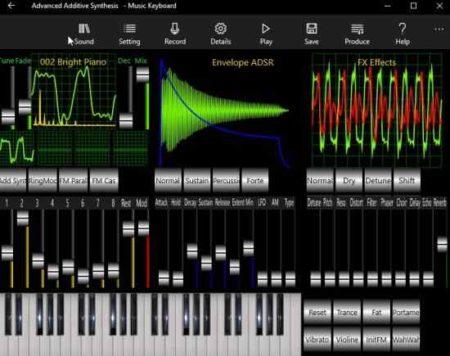 music keyboard synthesizer