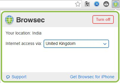 Browsec Chrome Extension