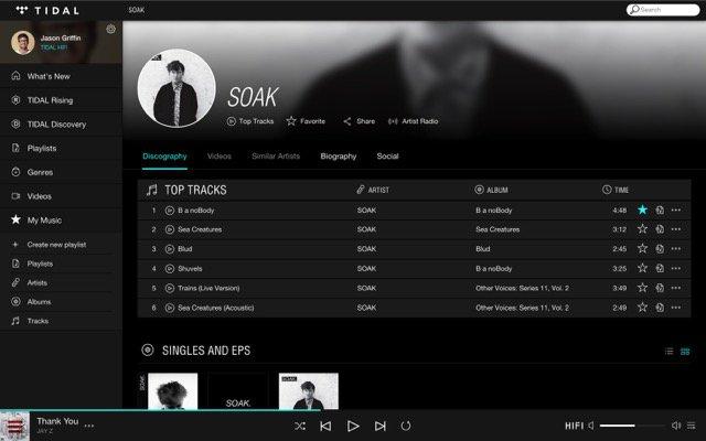 Spotify -bb- Tidal