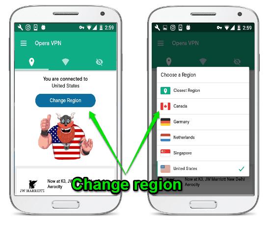 android telefon ip değiştirme programı