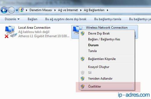 Windows 8 DNS Ayarları Değiştirme