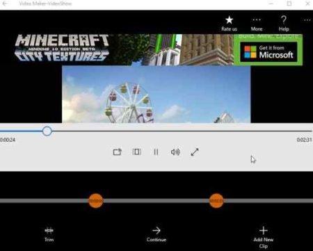 video maker videoshow trim