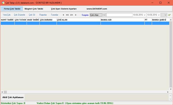 FENESOFT Çek Takip uygulamasını kullanarak tüm çeklerinizin takibini yapabilirsiniz.