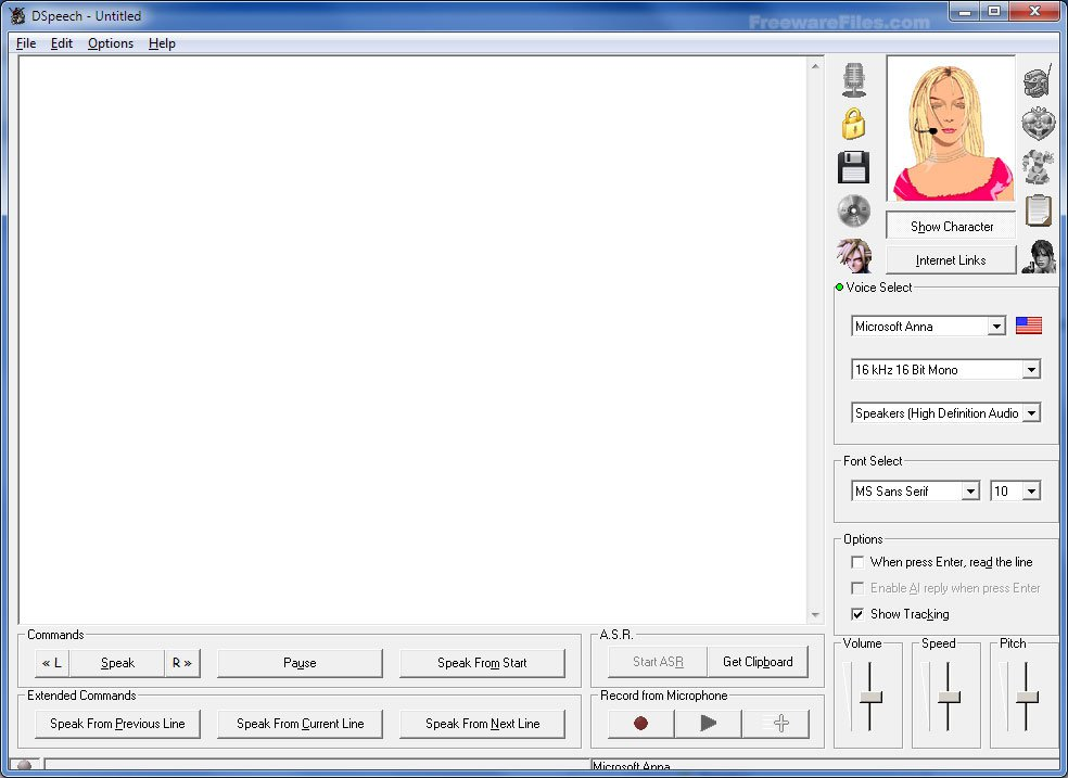 Screenshot for: DSpeech 1.62.7