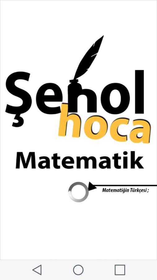 Şenol Hoca Matematik