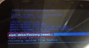Как сделать factory data reset на asus