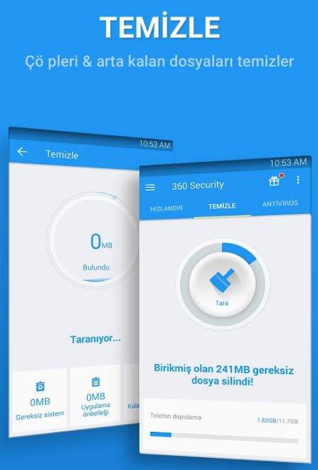 android in 360 security t rk e cretsiz ndir g venlik antivir s uygulamas teknolib. Black Bedroom Furniture Sets. Home Design Ideas