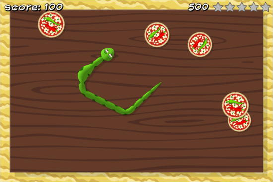 5 Free Snake Games For Facebook- Pizza Snake