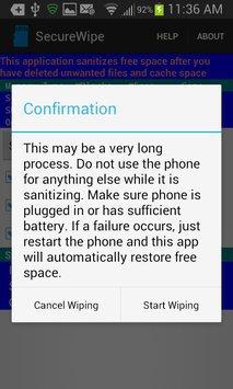 Secure Wipe apk screenshot
