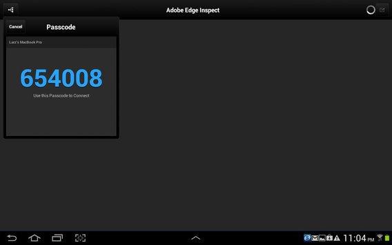 Adobe Edge Inspect CC apk screenshot