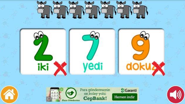 Okul Öncesi Sayılar ve Sayma apk screenshot