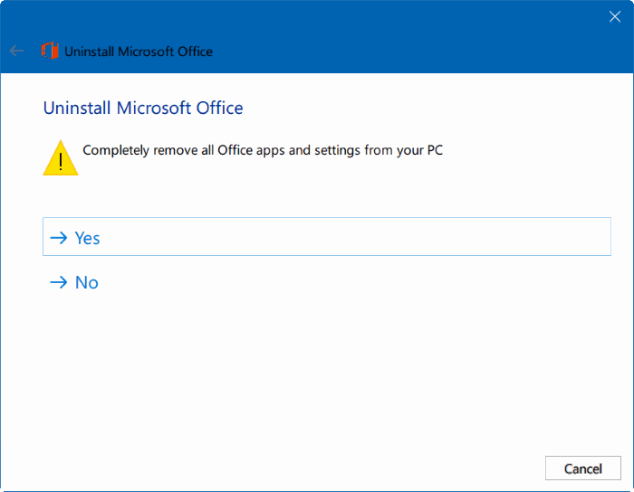 Uninstall Office from a PC  Office Support