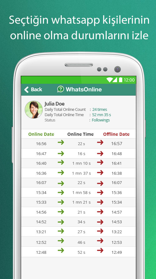 WhatsOnline İndir (Android)