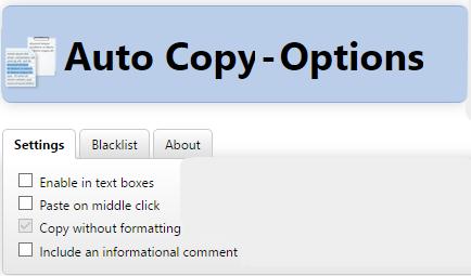 Auto copy for Opera