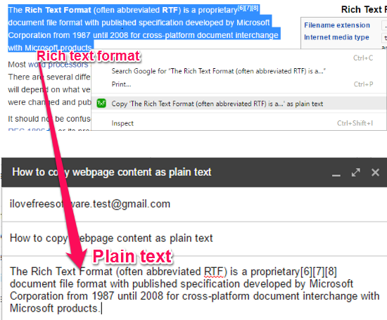 How to copy data as plain text in Chrome, Opera, Firefox, Safari and Microsoft Edge