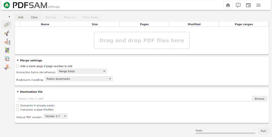 PDF merge screenshot