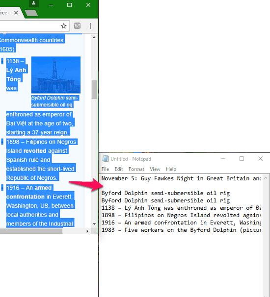 Plain text using notepad