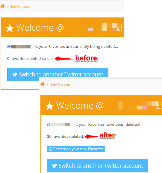 refresh the tab to see how many tweets deleted