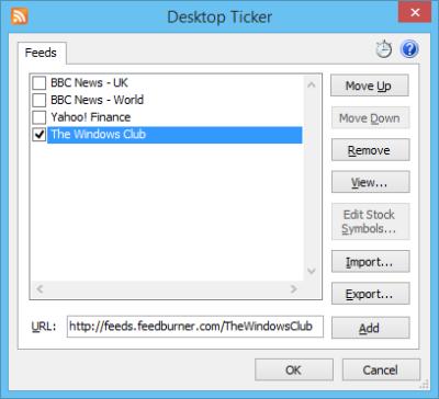 Desktop Ticker Feeds