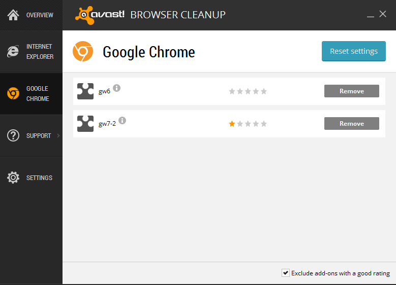 Avast! Browser Cleanup 4