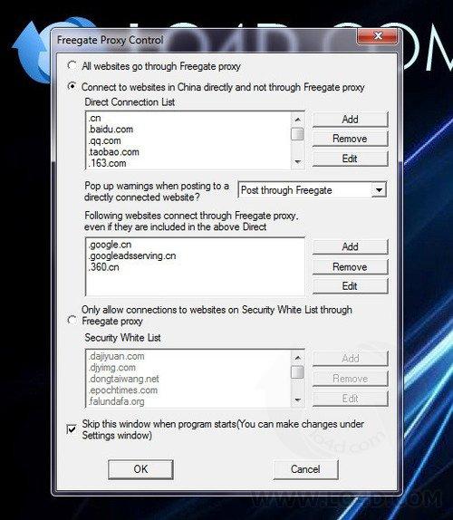 Freegate Professional - Screenshot 1