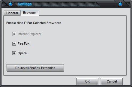 Free Hide IP  :: Advanced Settings - Browser