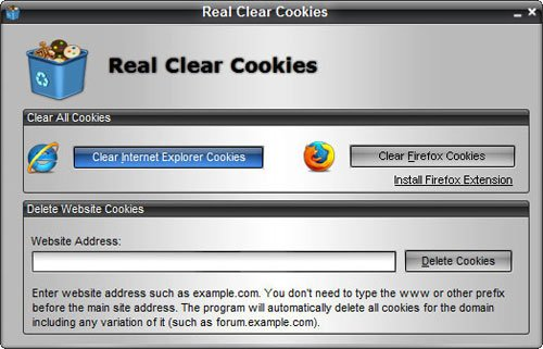 Real Clear Cookies :: Remove All Cookies with A Single Click