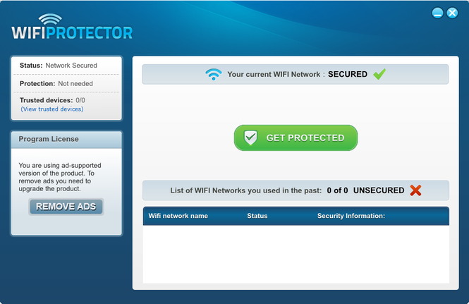 Wifi Protector Screenshot