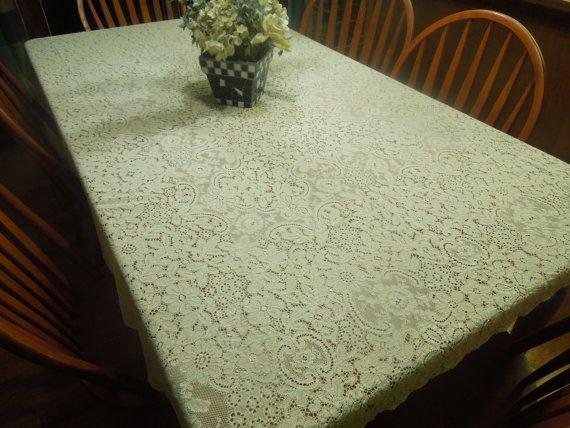 Mutfak takımı dantel masa örtüsü