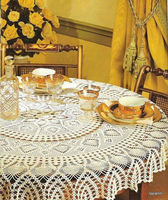 Örgü gu mutfak masa örtüsü