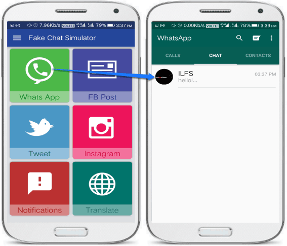 android app to create fake whatsapp chat- fake chat simulator- khodiyar apps-fake whatsapp chat