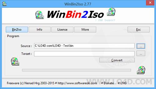 WinBin2Iso - Screenshot 1