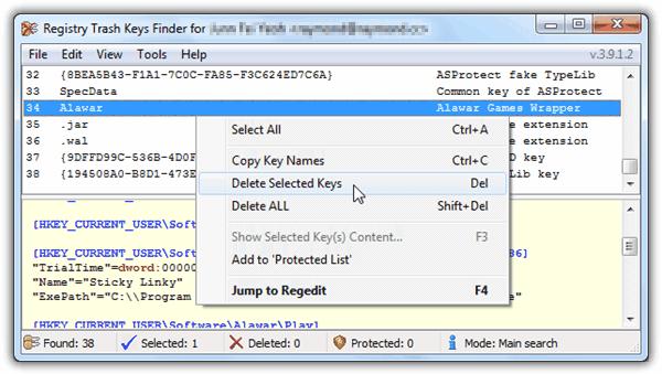 Registry Trash Keys Finder Full version