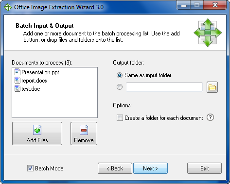 Office Image Extraction Wizard Screenshot