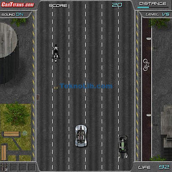 Screenshot of the Deus Racer: Highway Combat free online car game